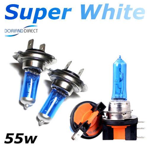 2 x H7 55w 2 x H15 15//55W SUPER WHITE HEADLIGHT BULBS SET ERROR FREE 12v DRL B