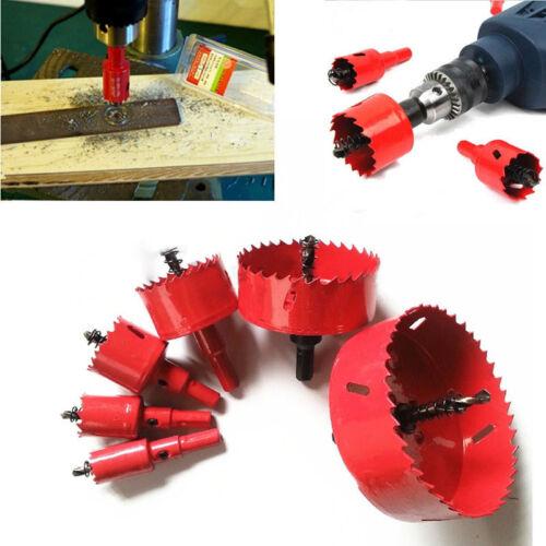 22mm-120mm Alloy Holesaw Cutter Bit set BiMetal Wood Quick Change Release NEW