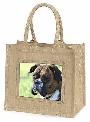 Brindle und weiß Boxer Hund Große Natürliche Jute-einkaufstasche Weihnachten,