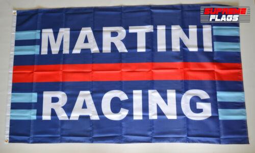 Martini Racing Flag Banner 3x5 ft Motor Racing Products Wall Garage Horizontal