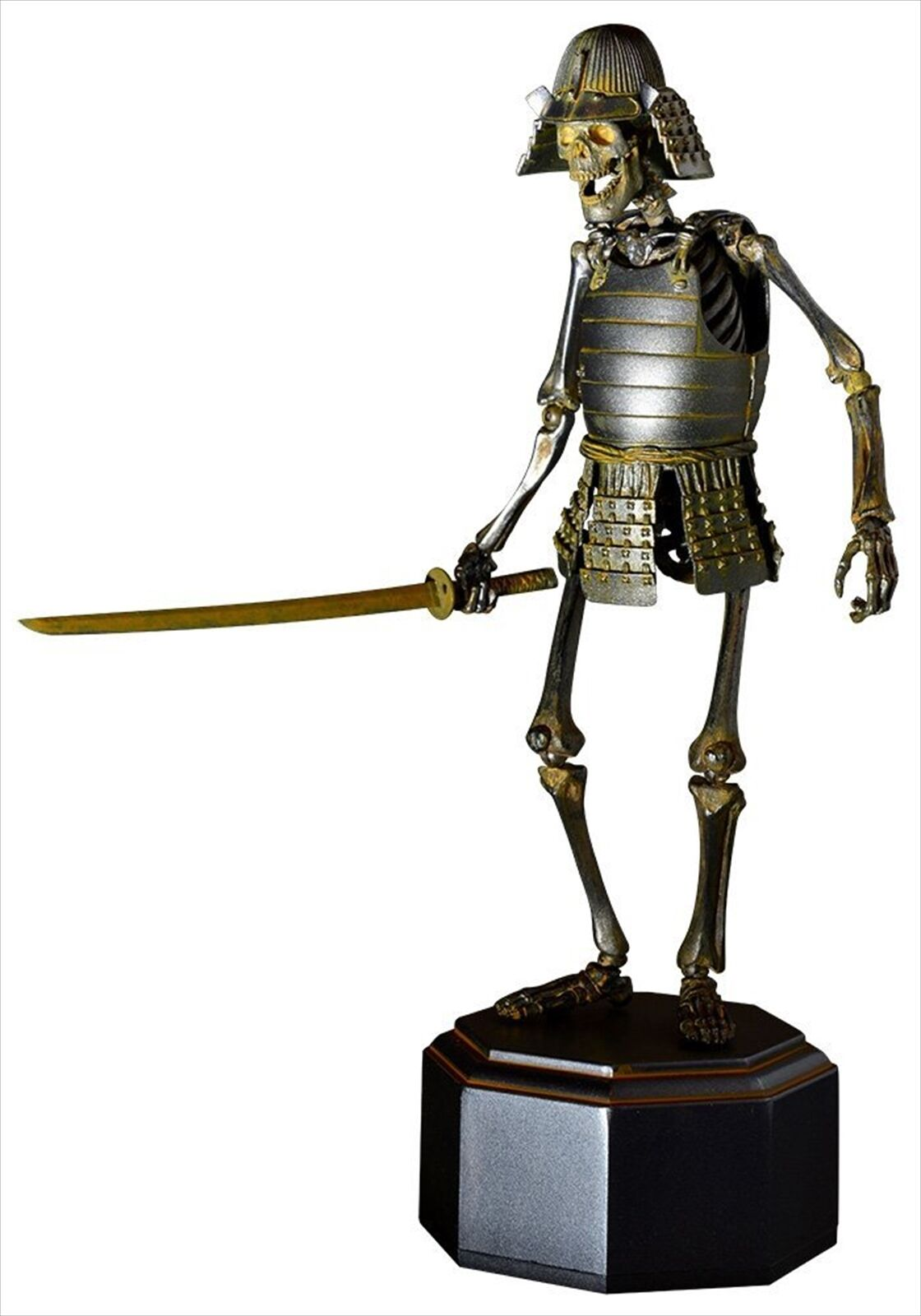 Kaiyodo Takeya Shiki Jizai Okimono KT-009 Samurai Skeleton Iron Ver. Figure