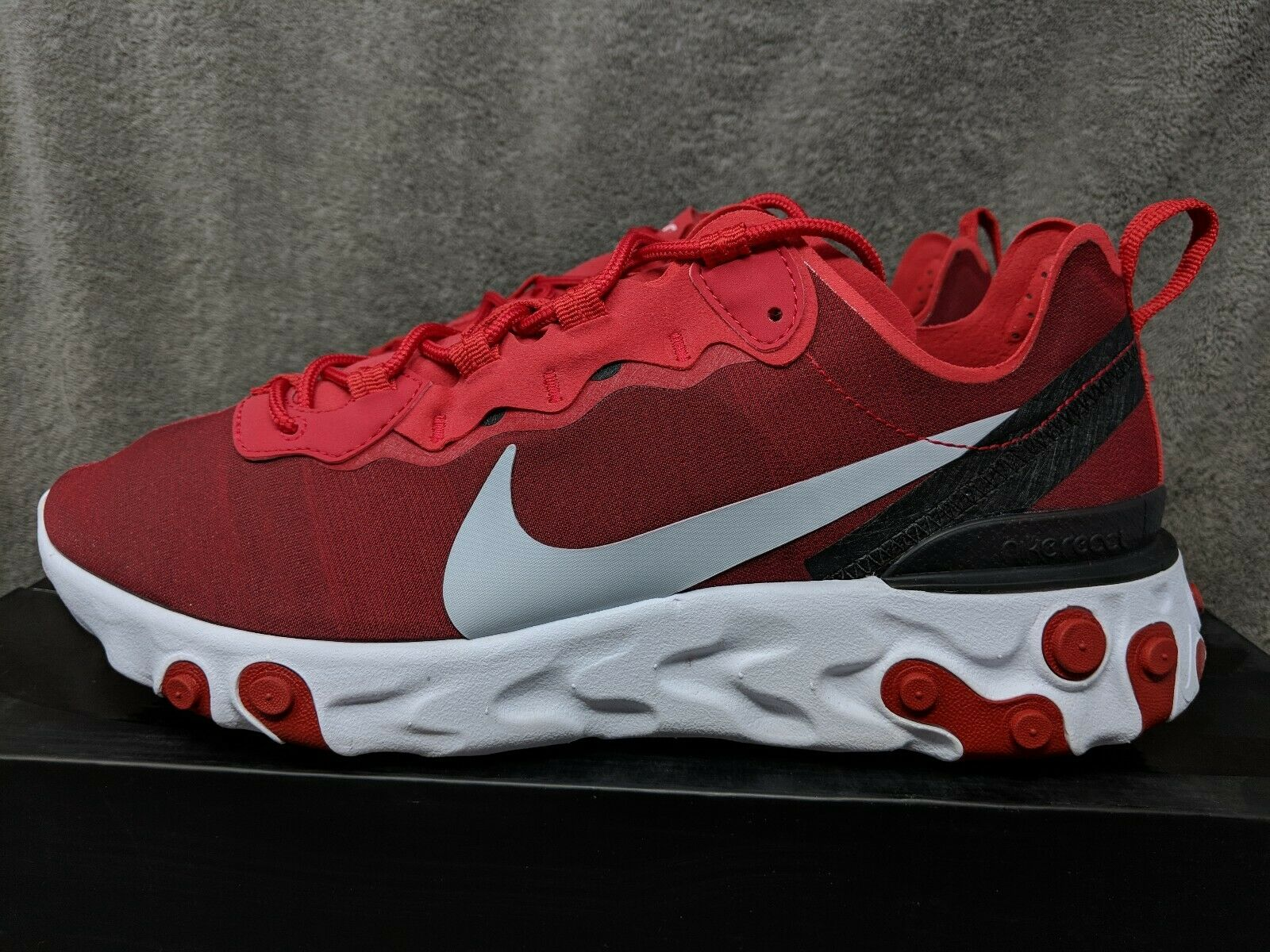 02829fd396 Nike React Element 55 14 Gym Red White Black Wolf NEW Men's  Grey(BQ6166-601) nzvgkh23-Athletic Shoes