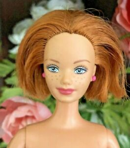 Mattel-Barbie-MIDGE-Doll-Happy-Family-Short-Red-Hair-Freckles-NUDE-No-Belly