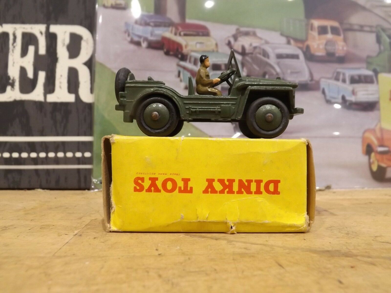 Dinky 674 Austin Champ superbe état Comme neuf boxed
