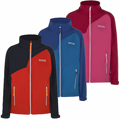 4 Colour Wind Resistant Showerproof REGATTA KIDS CLASSMATE Soft Shell Jacket