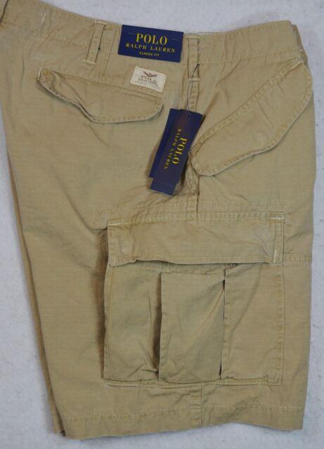 173827f663 Polo Ralph Lauren Military Gunner Cargo Short Khaki 30 32 33 34 NWT