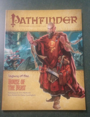 House of the Beast Legacy of Fire Pathfinder Adventure Path 20