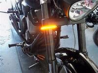 Honda Vtx1300c '04-'09 Razor Fork Mount Led Turn Signals - 41mm