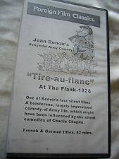 TIRE AU FLANC AT THE FLANK JEAN RENOIR ( SILENT) NTSC VHS SMALL BOX