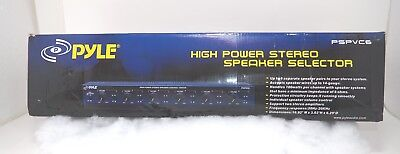 NEW Pyle PSPVC6 6 Channel High Power Stereo Speaker Selector W//Volume Control