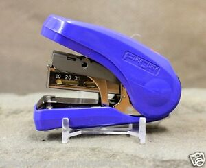 MAX Flat Clinch Stapler Style Coin Holder Flip Box Office Space Saver No Effort