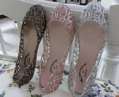 NEW Women's Casual Shoes Jelly Hollow Out Flat Heel Sandals Flip Flops Size