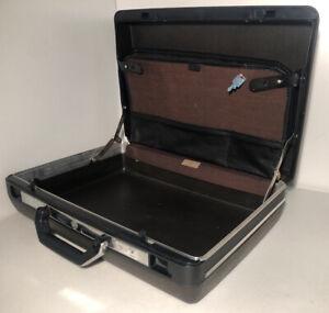 Samsonite Broker Hard Shell Brown Briefcase Mad Men Book Bag Attache Key Luggage