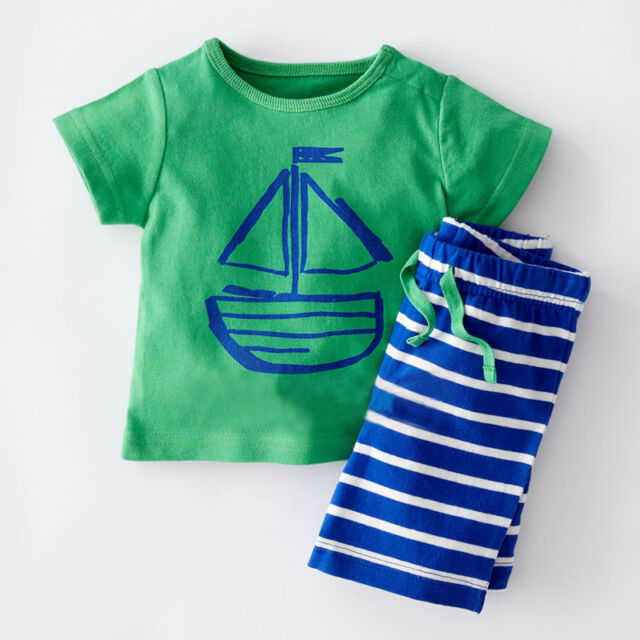 Cartoon Baby Kids Boy Cool Pirate Clothes Tees T-shirt & Pants 2pcs Outfits 0~5Y