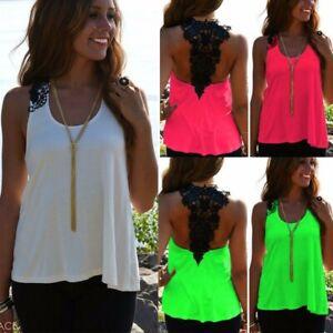 ZANZEA-Women-Shirt-Tee-Off-Shoulder-Tank-Tops-Lace-Crochet-Patchwork-Blouse-US