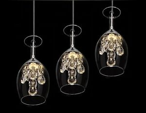 Modern crystal wine glasses chandelier ceiling light pendant lamp image is loading modern crystal wine glasses chandelier ceiling light pendant aloadofball Images