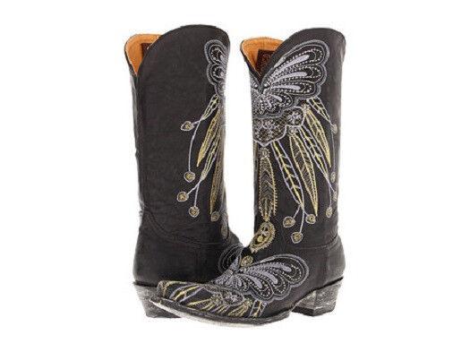 NEW IN BOX OLD GRINGO LAKOTA BLACK  L1135-3 WOMENS COWBOY BOOTS $570 RETAIL
