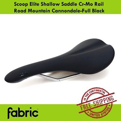 Black//Red Fabric Scoop Elite Shallow Cr-Mo Rail Saddle Road Mountain Cannondale