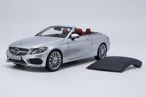 Escala-1-18-Mercedes-Benz-C-Clase-C200-Roadster-plata-modelo-automovil-de-fundicion