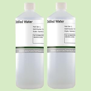 acqua distillata per il taglio del peso