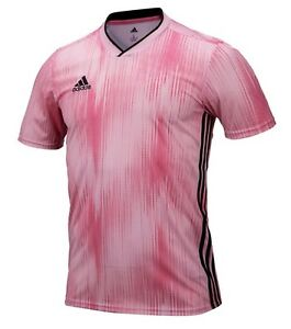 Details about Adidas Men TIRO 19 T-Shirts Jersey Training Soccer Pink Casual Top Shirt DP3540