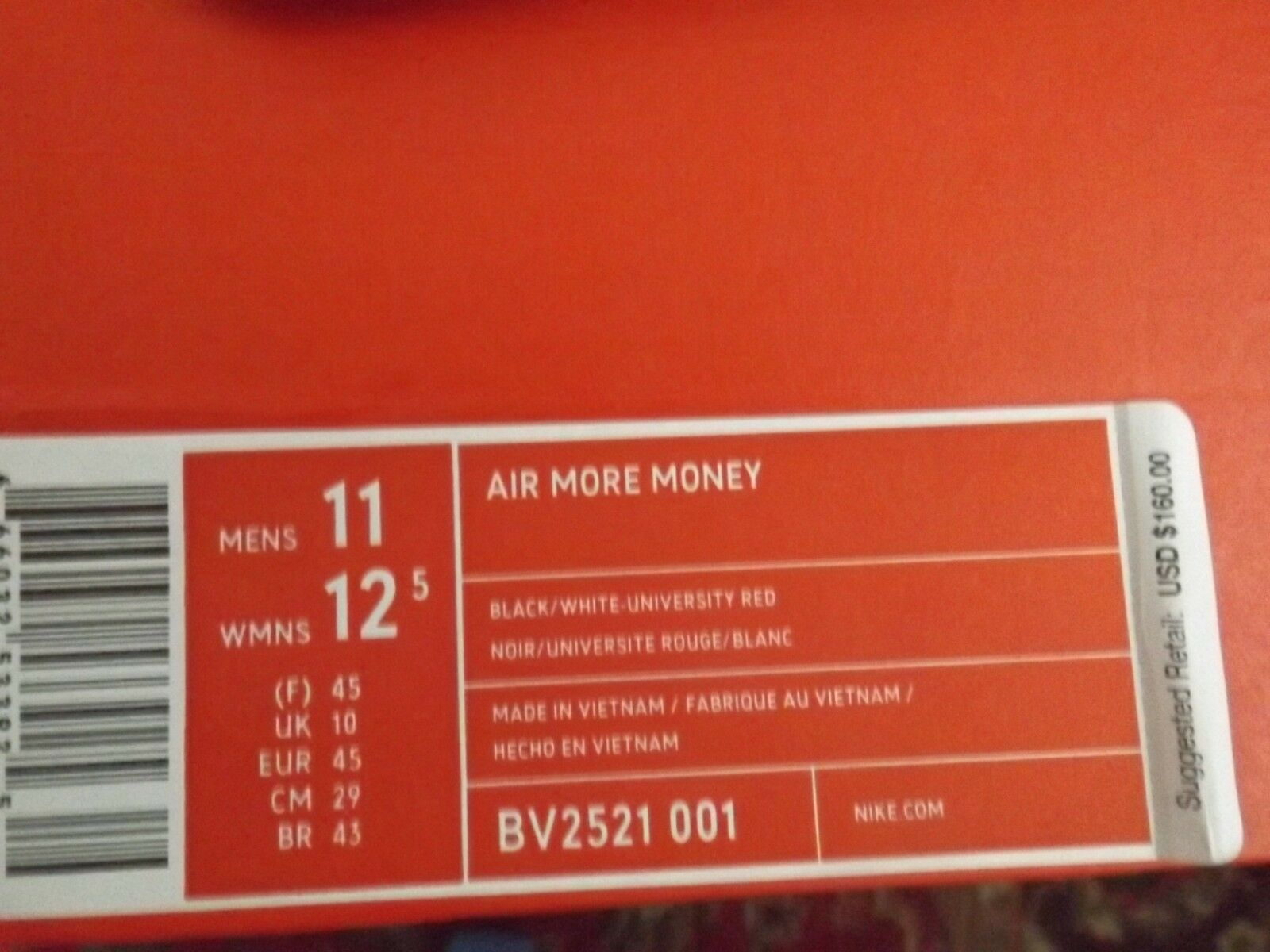 sale retailer 0f530 b2d8f ... Nike Air More Money Men s shoes Size 11 Lone Lone Lone Star State Texas  Black BV2521 ...