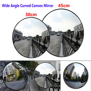 30-45cm-Wide-Angle-Security-Curved-Convex-Road-Traffic-Mirror-Safety-Driveway