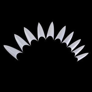 500Pcs-Stiletto-Point-Shape-Natural-Acrylic-French-False-Nail-Tips-UV-Gel-DIY
