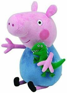 Charmant Ty George Peluche Beanie Pot Jouet 10' Peppa Cochon Personnage Tv Pour Enfants
