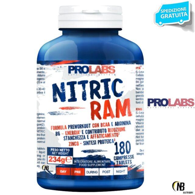 Prolabs Salpetersäure RAM 180 CPR. Stickstoffmonoxid Arginin Kyowa+BCAA +