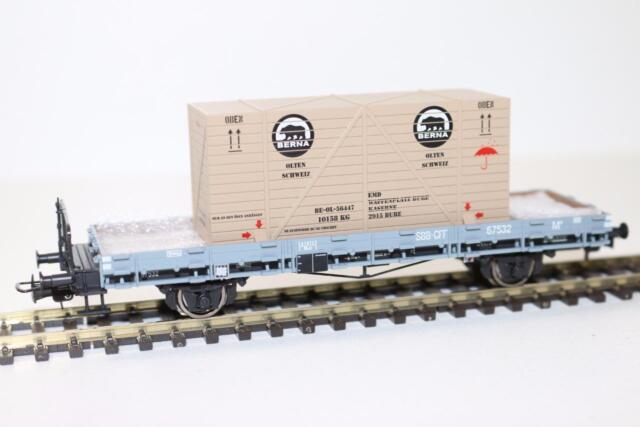Liliput HO Flat Wagon + Wood Stanchion & Box Loading SBB, Ep.III FNQHobbys