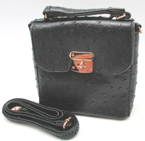 Simply Noelle Mini Ostrich Cross Body Bag
