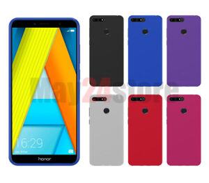 Funda-gel-lisa-Huawei-Y6-2018-HONOR-7A-protector-cristal-opcional