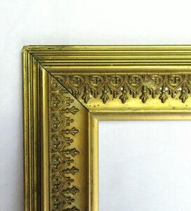 "BIG FITS 13"" X 15""  GOLD GILT ORNATE WOOD PICTURE FRAME FINE ART VICTORIAN"