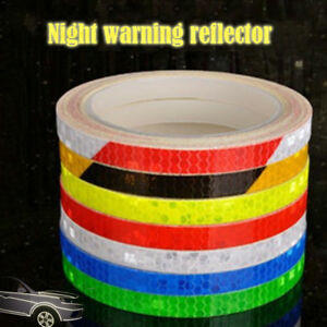 Safety Strips Reflective Motorcycle Car Rim Stripe Wheel Tape Stickers Decals