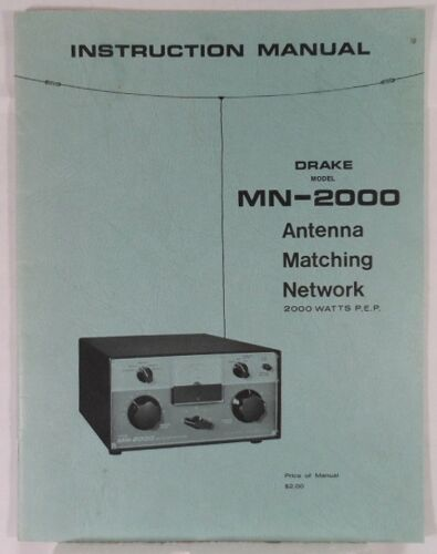 RL Drake MN-2000 Original Manual is Excellent Condition