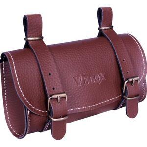 Saddlebag-Saddle-Brown-Velox-IN-Faux-Leather-Vintage-Bike-Bicycle-Retro