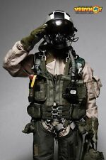 1/6 VERY HOT Toys Modern US Navy Combat Pilot Black KNIGHTS Uniform / Acc SET