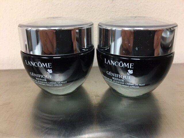 Lot of 2 Lancome Genifique Repair Youth Activating Night Cream 2 x 0.5 oz Travel