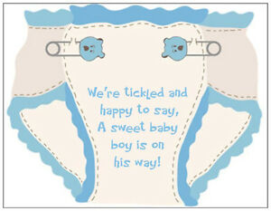 20-BABY-Boy-BLUE-Diaper-SHOWER-PARTY-INVITATIONS-amp-Env-OR-POSTCARDS