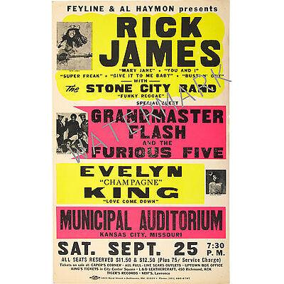 Rick James, Grandmaster Flash - Kansas city, Missouri concert poster