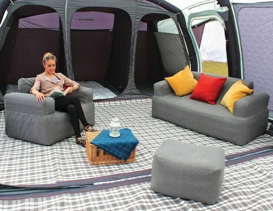 Campese  Inflatable Camping Outdoor Double Sofa Stool & Arm Chair with Grey Cover  official website
