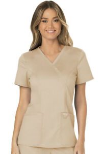 Tops Clothing, Shoes & Accessories Cherokee Workwear Scrubs Mock Wrap Top WW610 CAR Caribbean Blue Free Shipping