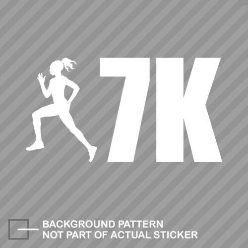 Womens 7K Sticker Die Cut Decal running runner woman girl