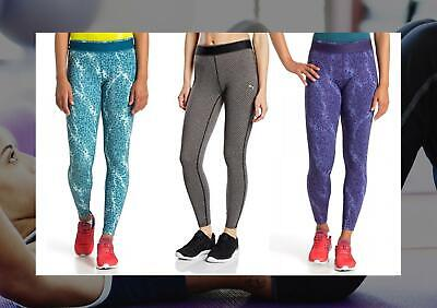 PUMA WOMENS ALL EYES ON ME TIGHT PATTERNED GYM LEGGINGS FITNESS 513415