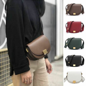 2-Szs-Small-Large-Real-Leather-Shoulder-Bag-Flap-Purse-Trunk-Saddle-Crossbody
