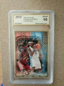 2004 LeBRON JAMES & CARMELO ANTHONY All Sports Gold 1 OF 200 ROOKIE CARD RC GEM