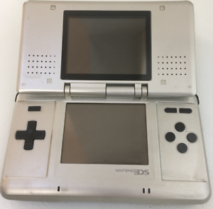 Nintendo DS Original NTR-001 Console w/ Charger - Titanium Silver - Tested Works