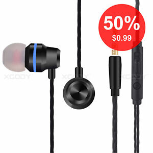 New Earphone Headset For Cell Phone Tablet 3 5mm In Ear Earbud Wired Headphone Ebay