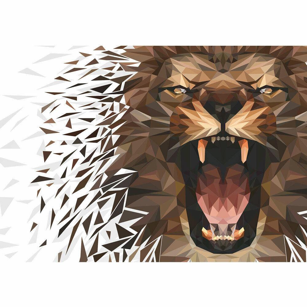 Foto Mural León Abstracción Geometría Gato Tigre Liwwing N°4568